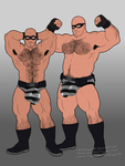 Commission: Crook Wrestler duo by headingsouth