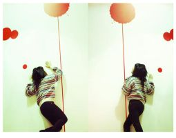 .red balloons by dippedFEATHER