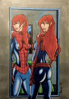 Mary Jane Watson, The Amazing... Spiderwoman?! by ultimatejulio
