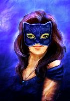 Girl in a cat  mask by Willborg