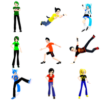 MMD Pose pack 1 DL by Rolneeq