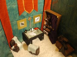 Thorin's bedroom in 1:12 scale: the study by PrincessAveril