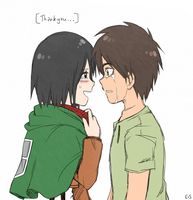 SnK: EreMika: Thankyou by Endless-Mittens