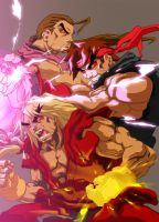ken, ryu and dan by ice-vision