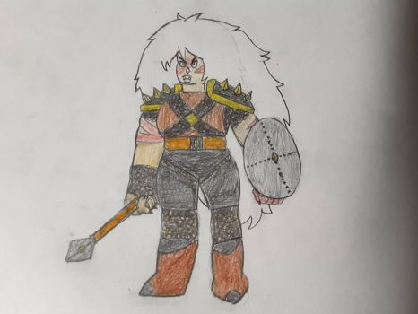 Jasper the orc warrior by Lonee97