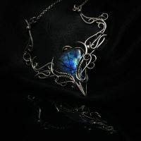 IHTMA - silver and labradorite by LUNARIEEN