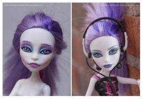 Repainting VS Factory Makeup: Spectra by MySweetQueen-Dolls