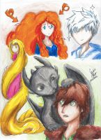 The Big Four: Everyones' Crazy Hair by melofarce