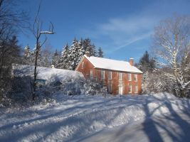 Old Brick House During the Winter 1 by TheGreatWiseAss