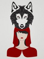 The Girl and the Wolf by StayGiant
