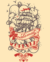 calamity Boat Tattoo by hosmane