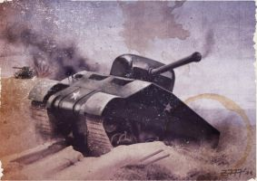 Sherman tank by Zirkon777