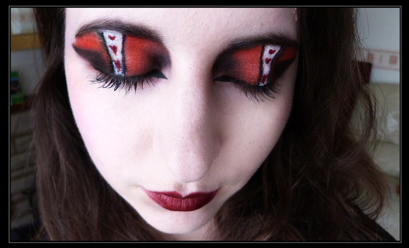 Queen of Hearts Eye Make-Up by Demonic-NiK