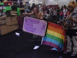Nyan Cat Chuck Norris AX 2011 by MidnightLiger0