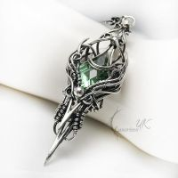USULMEHTIOR- silver and green amethyst by LUNARIEEN