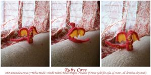 Ruby Cove, NeedleFelted Dragon by taeliac