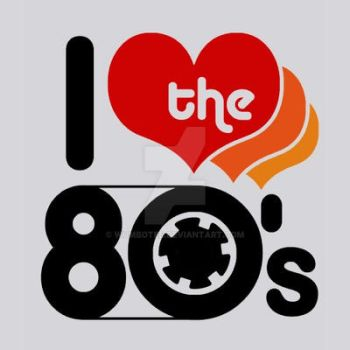I Love the 80's T-shirt by WumboTee