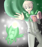 APH - Go, Flying mint bunny!! by Mi-chan4649
