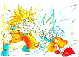 Goku Vs Sonic - MAX LEVEL! by kaiserkleylson