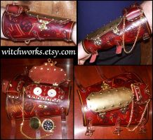 Custom Gauge N Comapss Bracer by Steampunked-Out