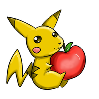 Pikachu Loves Apples by Roseheart53
