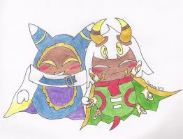 Magolor and Taranza by syani123