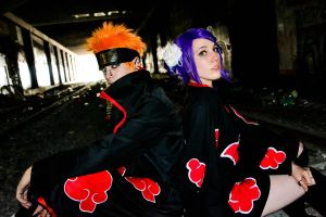 Pain and Konan naruto cosplay by 06devilsasuke06
