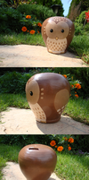 Owl Money Box by MashedWhiteElephants