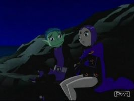 Raven and Beastboy Moment by BBxRaeFan321