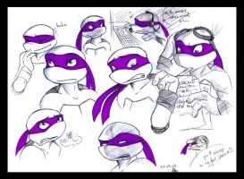 TMNT - Donny sketchiness color by xSkyeCrystalx