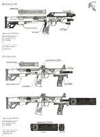 MT-22 Astute SMG and Prototype ASI-91 Asinine PDW by RedW0lf777sg