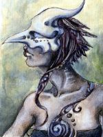 feathers ACEO by glait