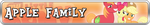 Apple Family Fan Button by Brony-Works