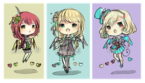 [ CLOSED ] adoptable set: ribbon wings ! by chocuu