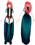 MMD Uotan - Una O'hara - Outfit/hair commission by mbarnesMMD