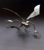 Iccy II (Icarus inspired watch parts sculpture) by AMechanicalMind
