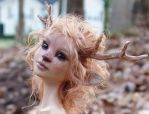 FAWN GIRL sculpture closeup by pixiwillow