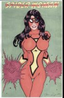 Spider Woman in Color by JLillustrator