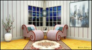 Room Rendering, Chair and Table Design by jbjdesigns