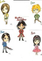 Gokaigers Chibi cards by ZIX89
