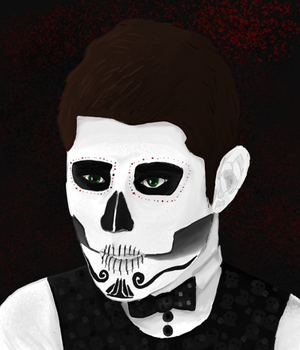 Dean Winchester - Day of the Dead by PieFeathers