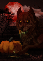 Halloween YCH WhaleWolf + VID by Therbis