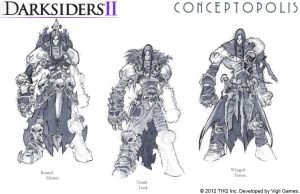 Darksiders II Necro Roughs by Conceptopolis
