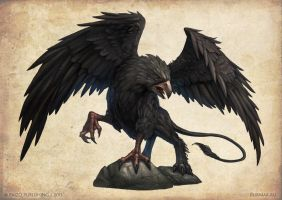 Black Griffon by DevBurmak