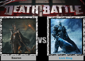 Death Battle-(Fan)-Sauron vs. Lich King by XPvtCabooseX