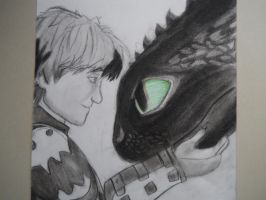 Toothless and Hiccup by TheHalloweenParade