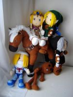 Legend of Zelda Plushies by Eightohsixtythird
