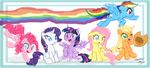 The Mane Six by DANMAKUMAN