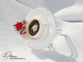 Tea and cake by OrionaJewelry