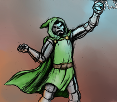 Dr. Doom by SamuriFerret